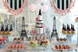 Paris theme baby shower ideas