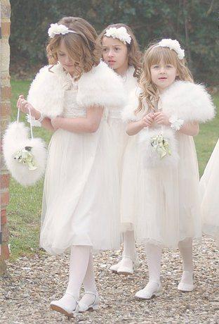 Wedding Flowers: flower girl dresses for winter wedding