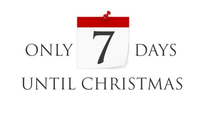 CHRISTMAS COUNTDOWN…7