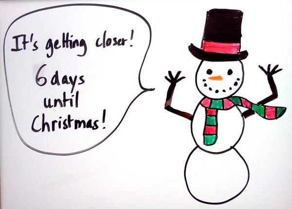 CHRISTMAS COUNTDOWN…6